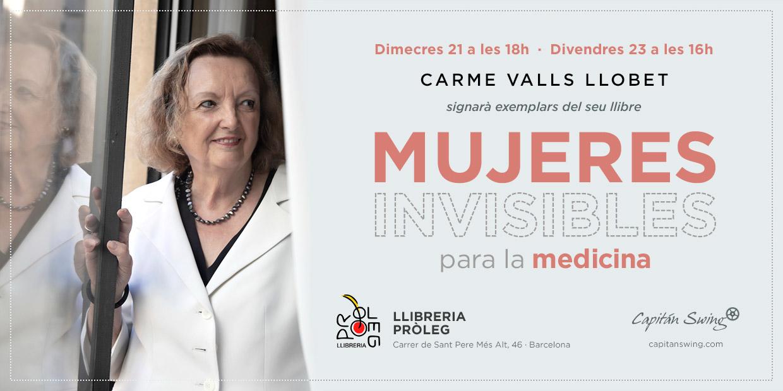 Carme Valls firma ejemplares de 'Mujeres invisibles para la medicina' en BCN