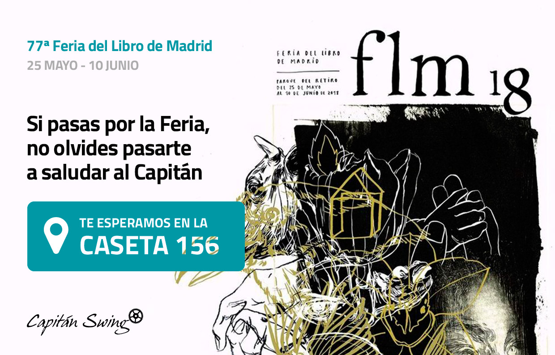 Visita al Capitán en la caseta 156 de la Feria del Libro de Madrid 2018